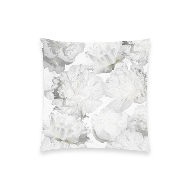 Castlefield Design White Peonies Pillow Cases