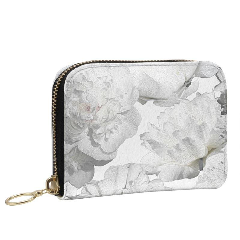 Castlefield Design White Peonies Small Wallet