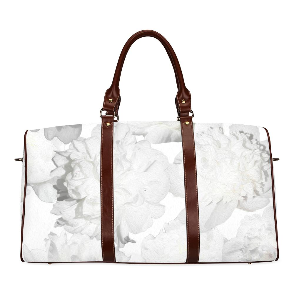 Castlefield Design White Peonies Travel Bag