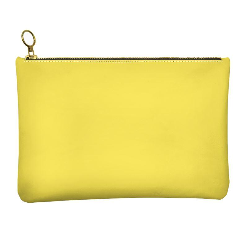 Castlefield Design Yellow Leather Clutch
