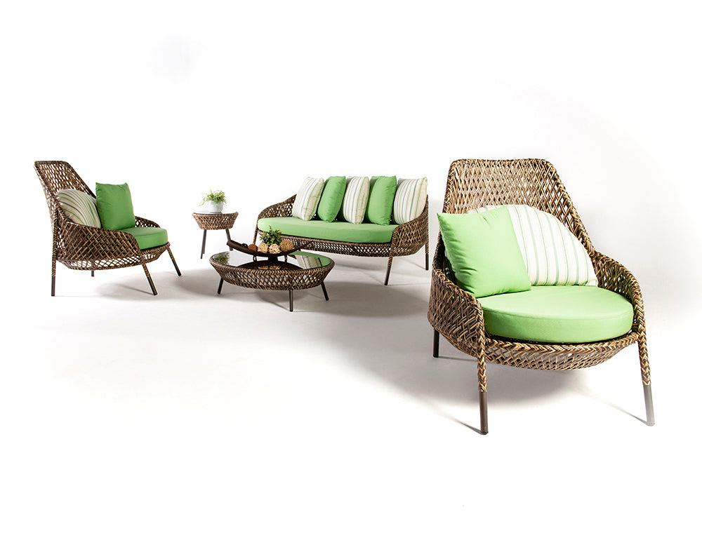 Dreamline Outdoor Garden Balcony Sofa Set 2 Seater , 2 Single seater , 1 Side table and 1 Center Table Set Outdoor Furniture