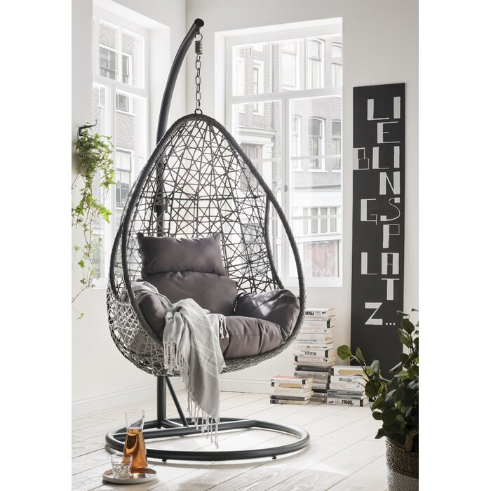 Dreamline Single Seater Hanging Swing With Stand For Balcony , Garden Swing