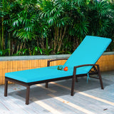 Dreamline Outdoor Furniture Poolside Lounger With Cushion (Dark Brown) Swimming Pool Lounger