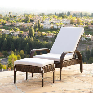 Dreamline Outdoor Furniture Poolside Lounger With Cushion (Brown) Swimming Pool Lounger
