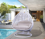 Dreamline Outdoor Furniture Double Seater Hanging Swing With Stand For Balcony , Garden Swing (White)