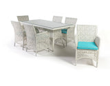 Dreamline Outdoor Garden Patio Dining Set 1+6 6 Chairs and 1 Table Set Outdoor Furniture