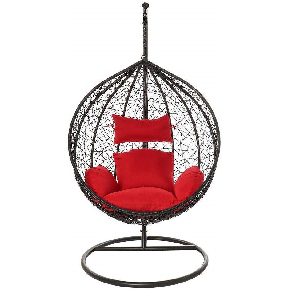 Dreamline Outdoor Furniture Single Seater Hanging Swing With Stand For Balcony , Garden Swing