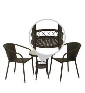 Dreamline Outdoor Furniture Garden Patio Seating Set 1+2 2 Chairs and Table Set Balcony Furniture Coffee Table Set