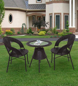 Dreamline Outdoor Garden Patio Seating Set 1+2 2 Chairs and Table Set Balcony Furniture COFFEE TABLE SETS