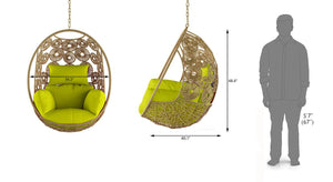 Dreamline Outdoor Furniture Single Seater Hanging Swing Without Stand For Balcony , Garden Swing
