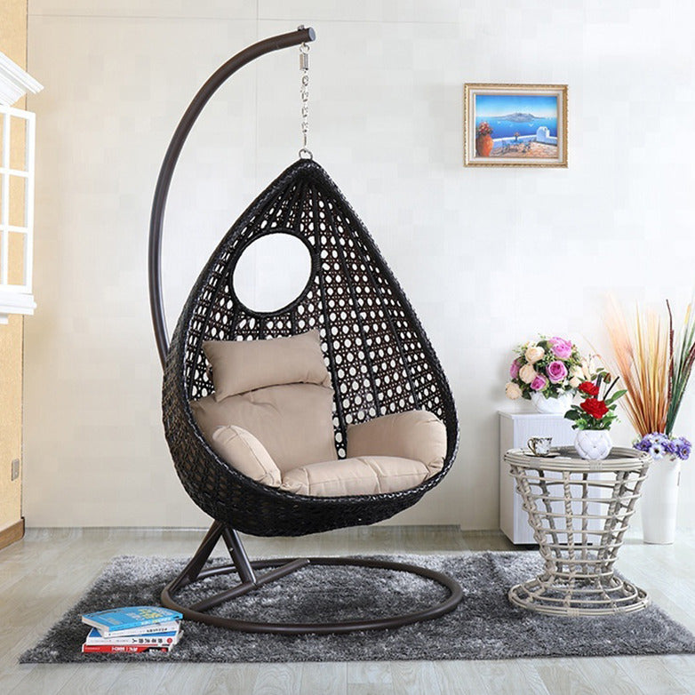 Single Seater Hanging Swing With Stand For Balcony or Indoor , Outdoor Garden Swing