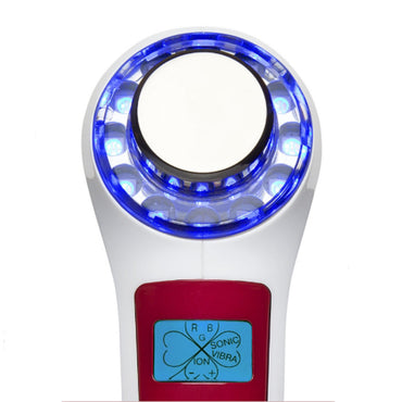 ultrasonic massager with light therapy