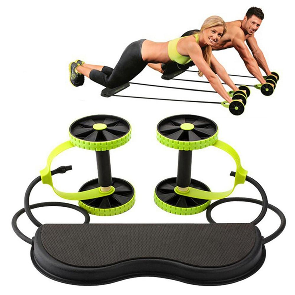 AB Wheels Roller with Resistance Pull Rope - Hiit-Gears
