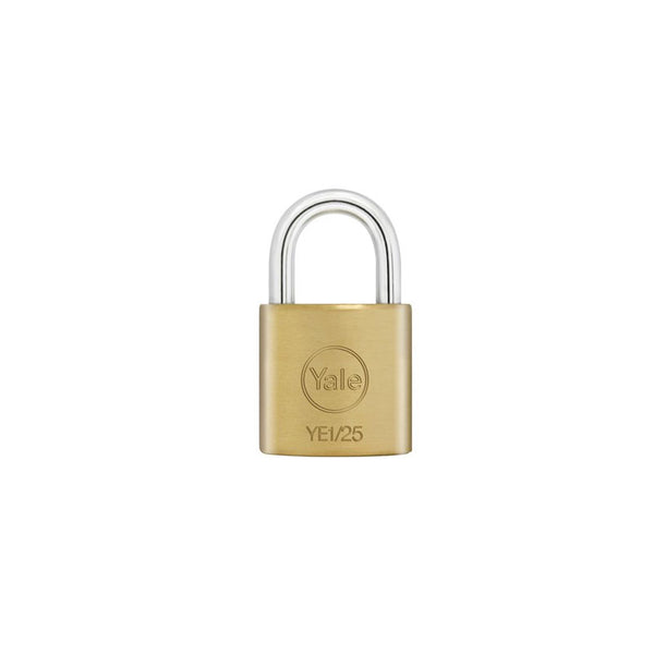 Yale Essential Series Indoor Brass Standard Shackle Padlock 25mm (YE1/25/113/1)