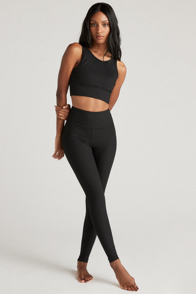 Sculpt Legging-Black Rib