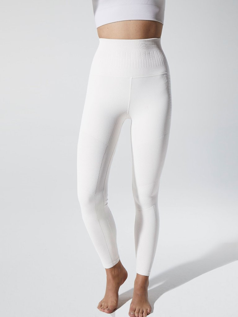 Seamless Moto Legging-Blanco