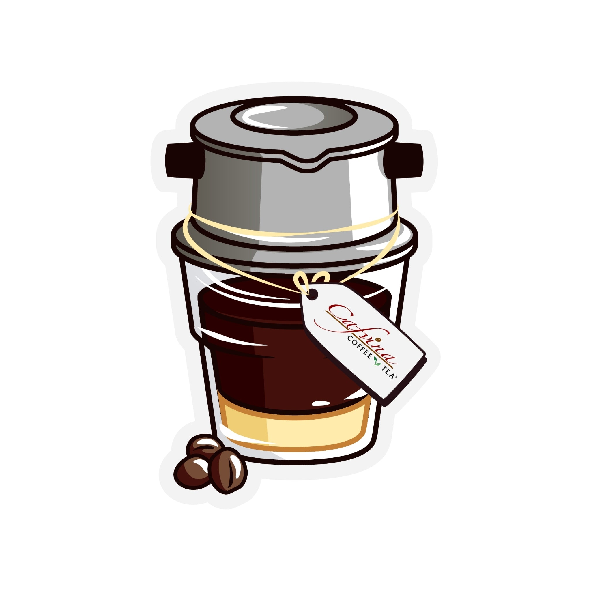 Limited Edition Cafvina Vietnamese Iced Coffee Sticker