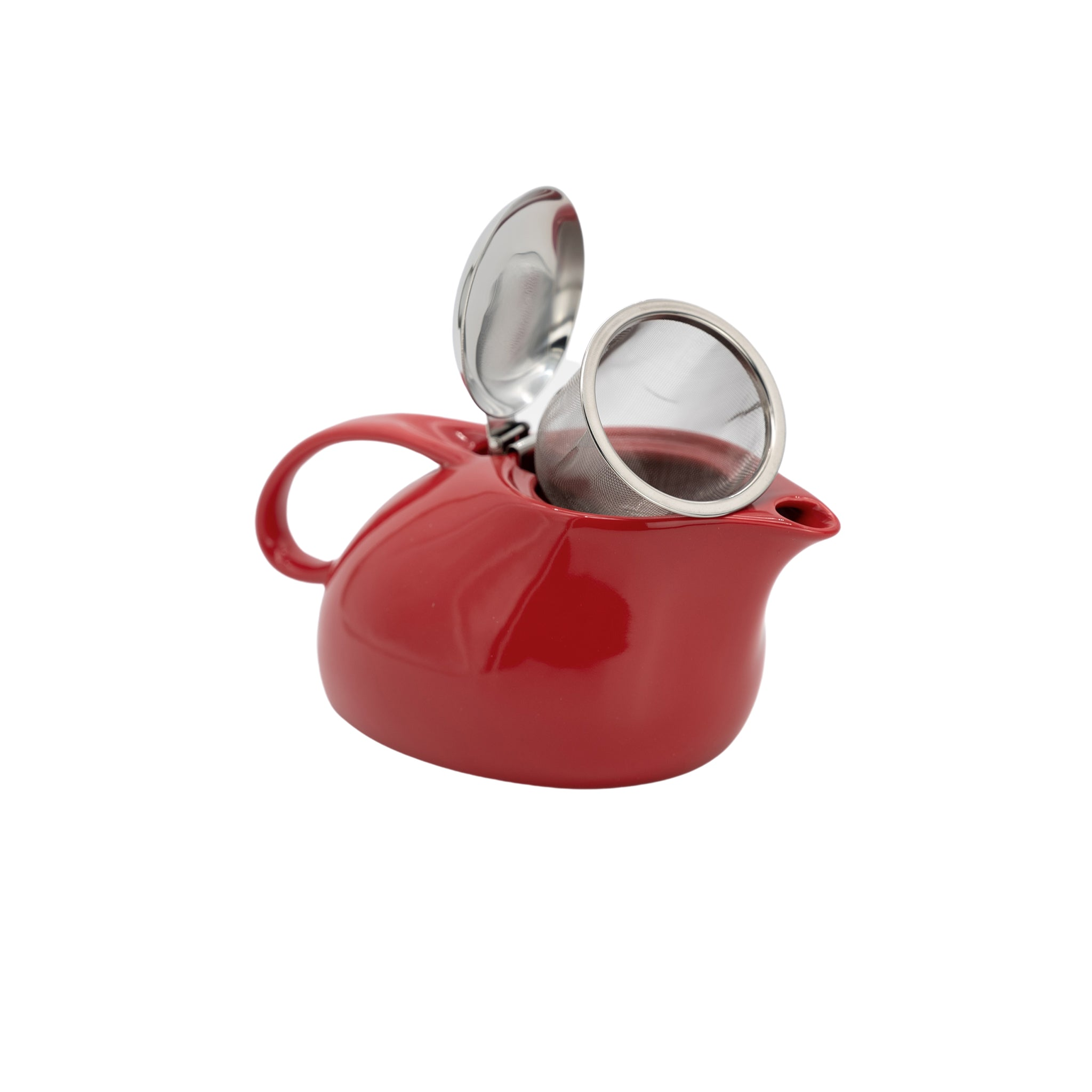 Tea Pot Set (Red) with Organic Oolong Green Tea