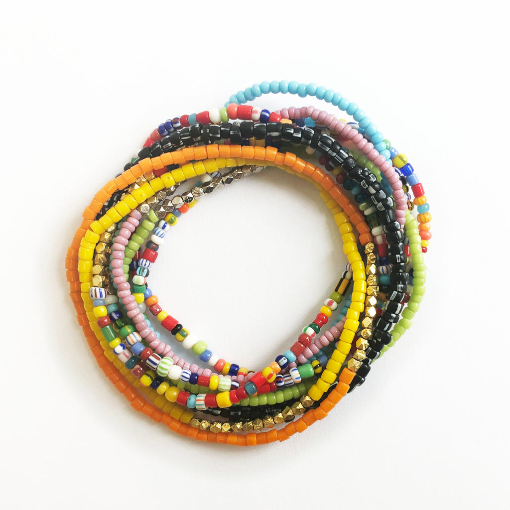 Set of 10 Beaded Bracelets