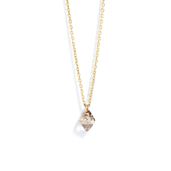 Large Diamond Drop Necklace in Yellow Gold