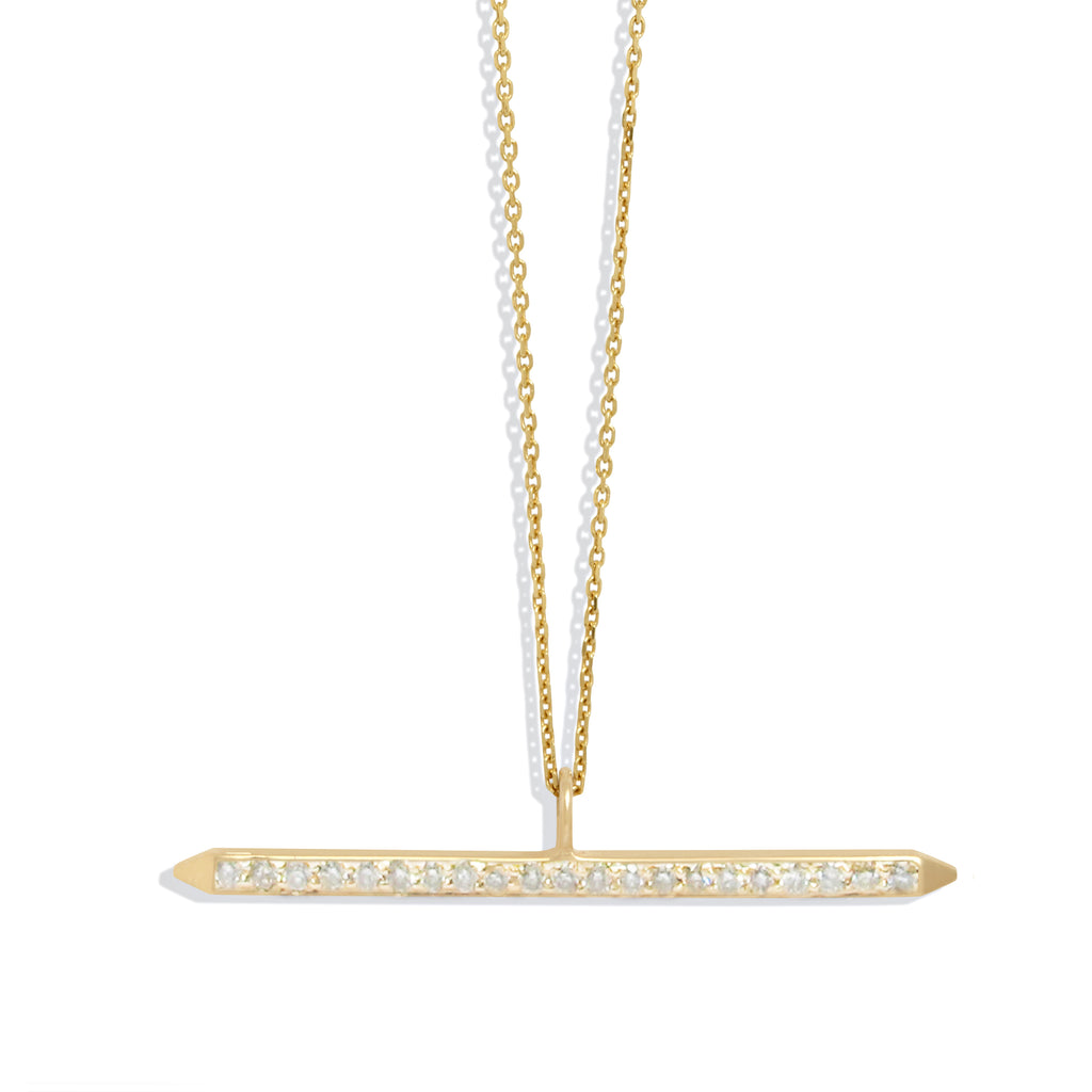 Diamond Pave Bar Necklace