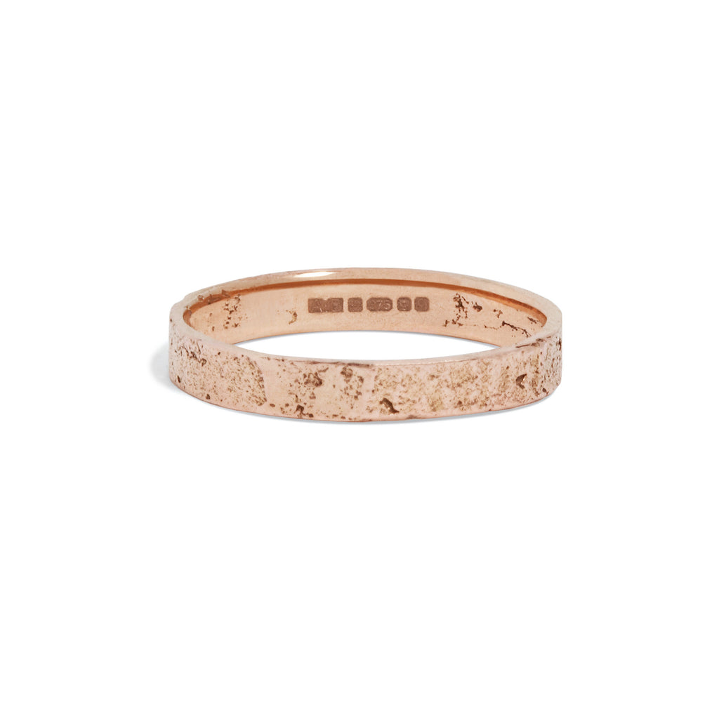 Women's Slim Paper Ring in Rose Gold