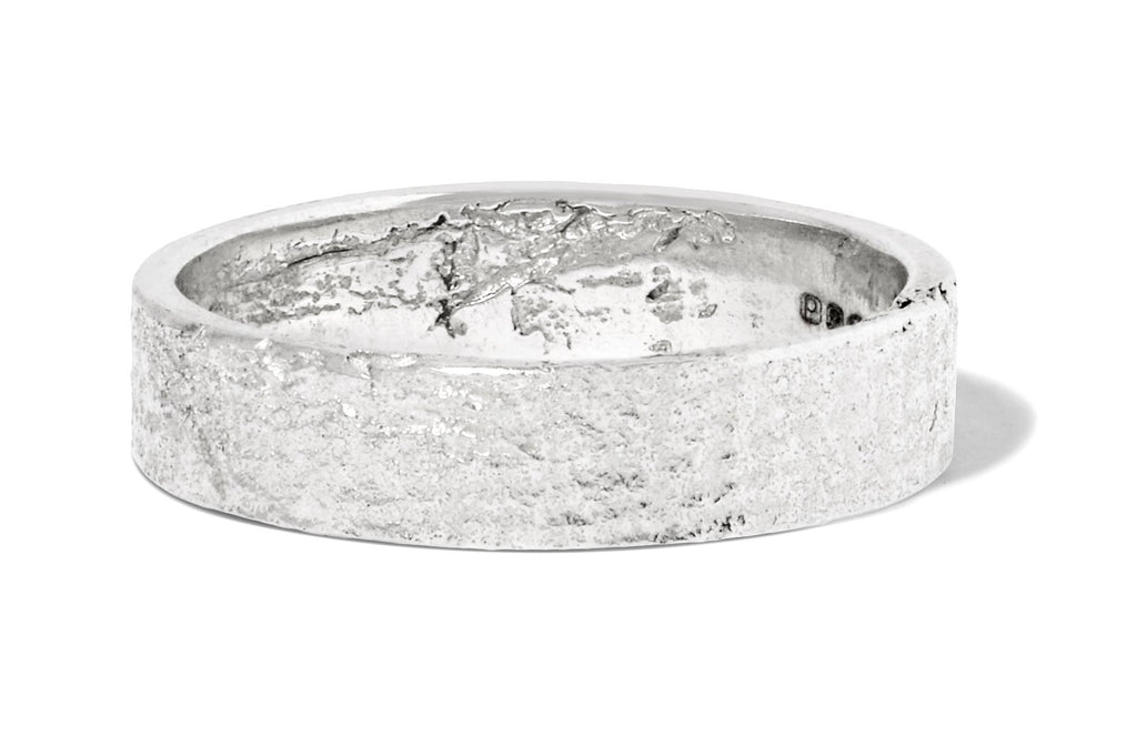 Men's Paper Band in Silver