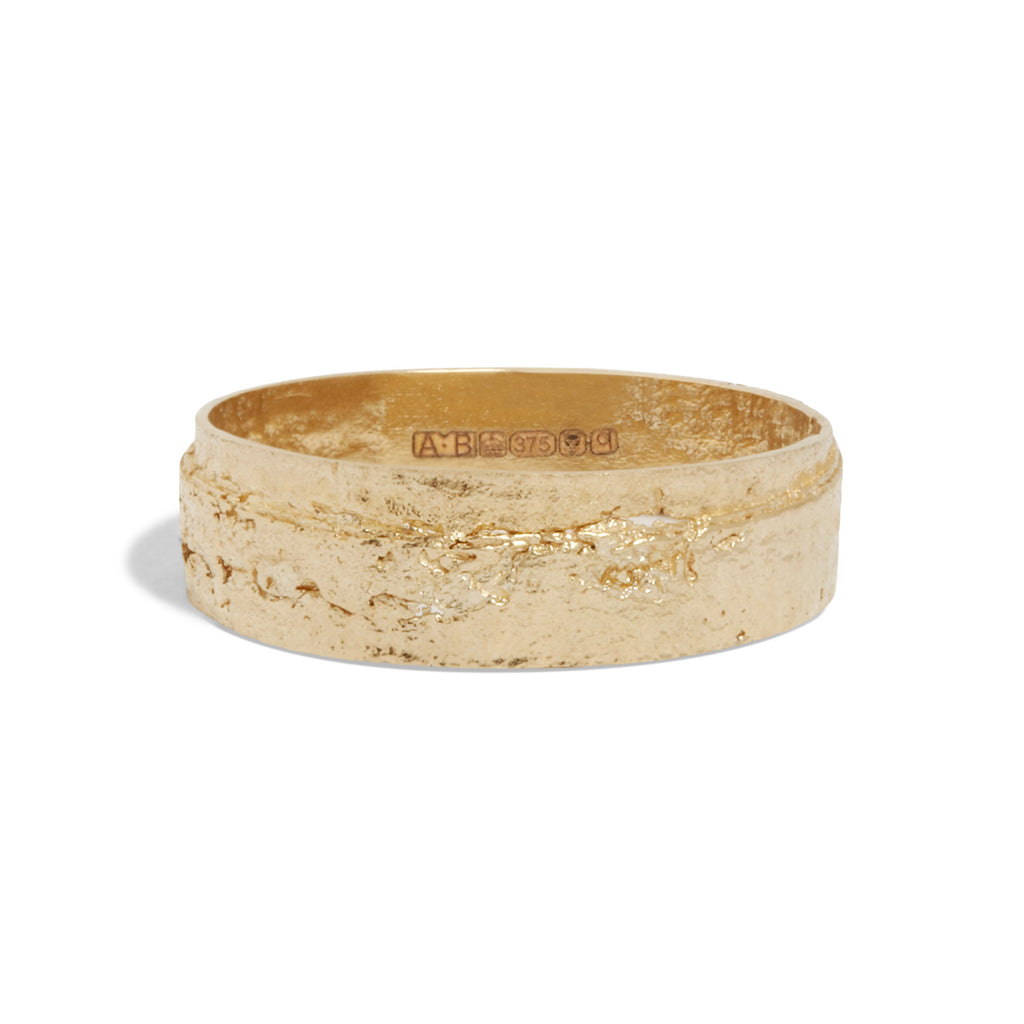 Women's Wrapped Paper Ring in Yellow Gold