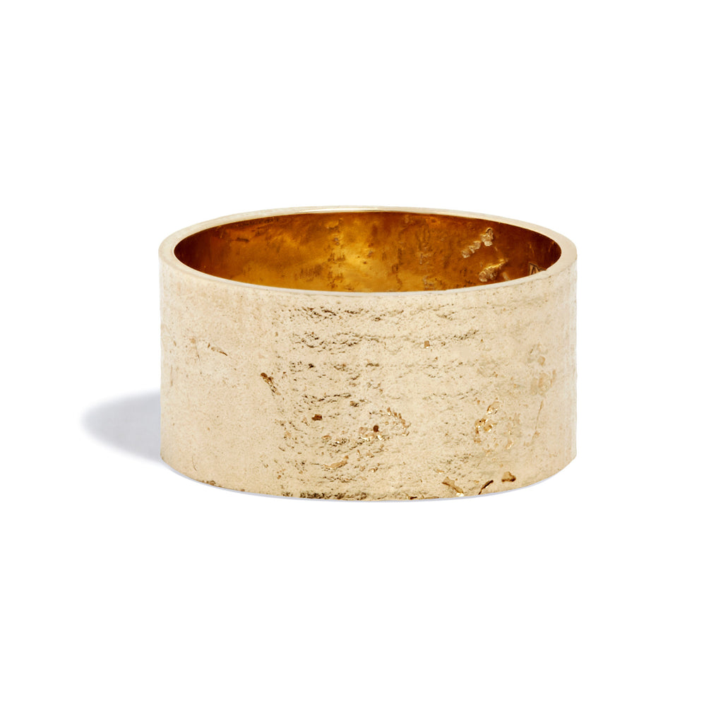 Women's Cigar Paper Ring in 9k Yellow Gold
