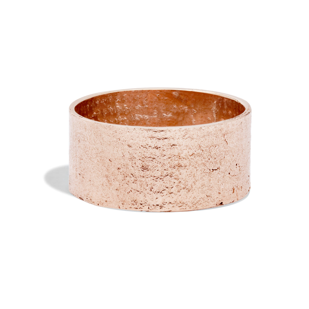 Women's Cigar Paper Ring in 9k Rose Gold
