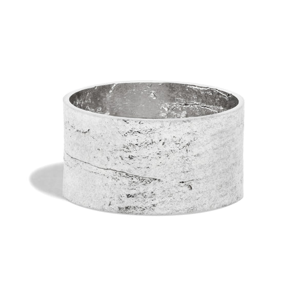 Men's Cigar Paper Ring in Silver