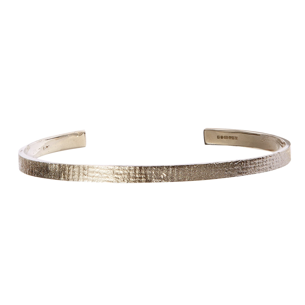 Men's Paper Cuff in White Gold