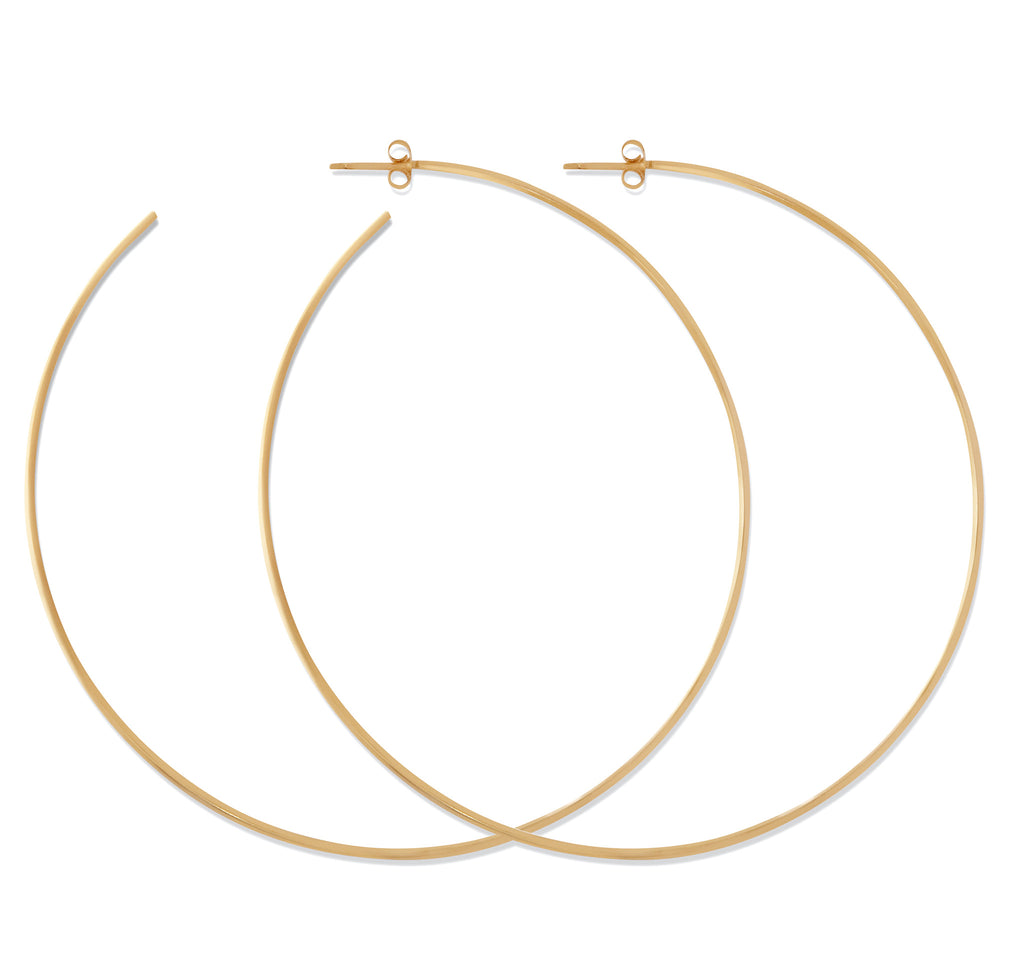 XL Hoop Earrings in Yellow Gold