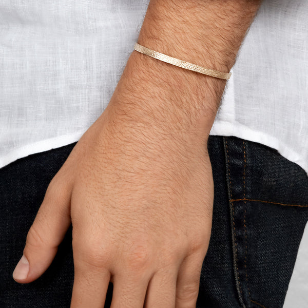 Men's Paper Cuff in Yellow Gold