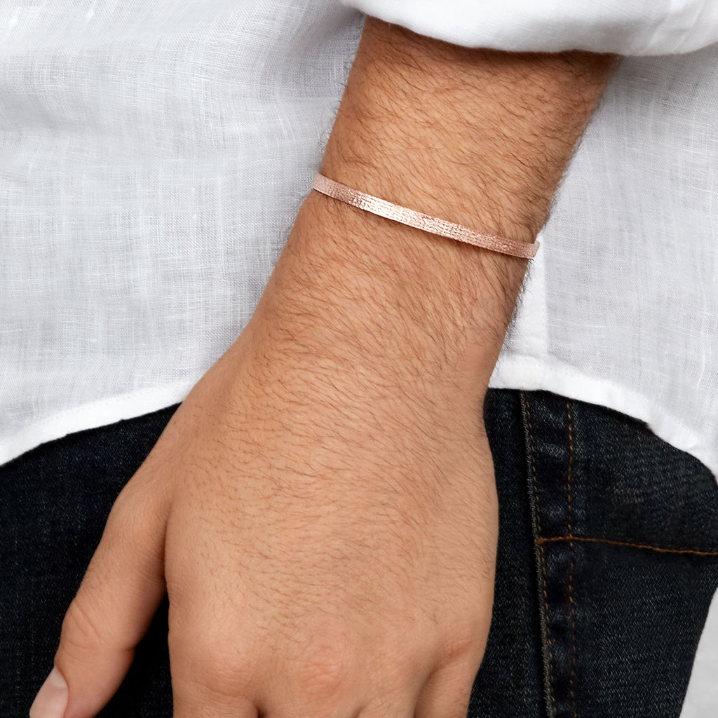 Men's Paper Cuff in Rose Gold