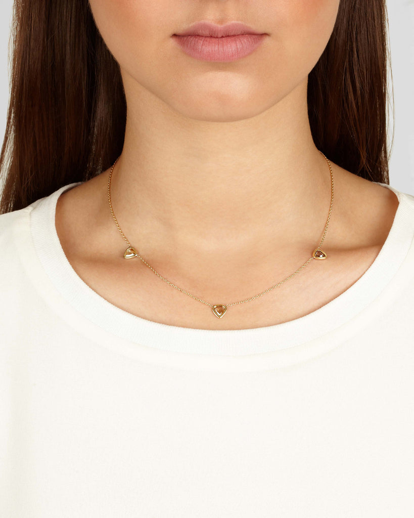Diamond Slice Trio Necklace