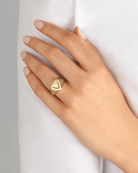 Diamond Frame Signet Ring