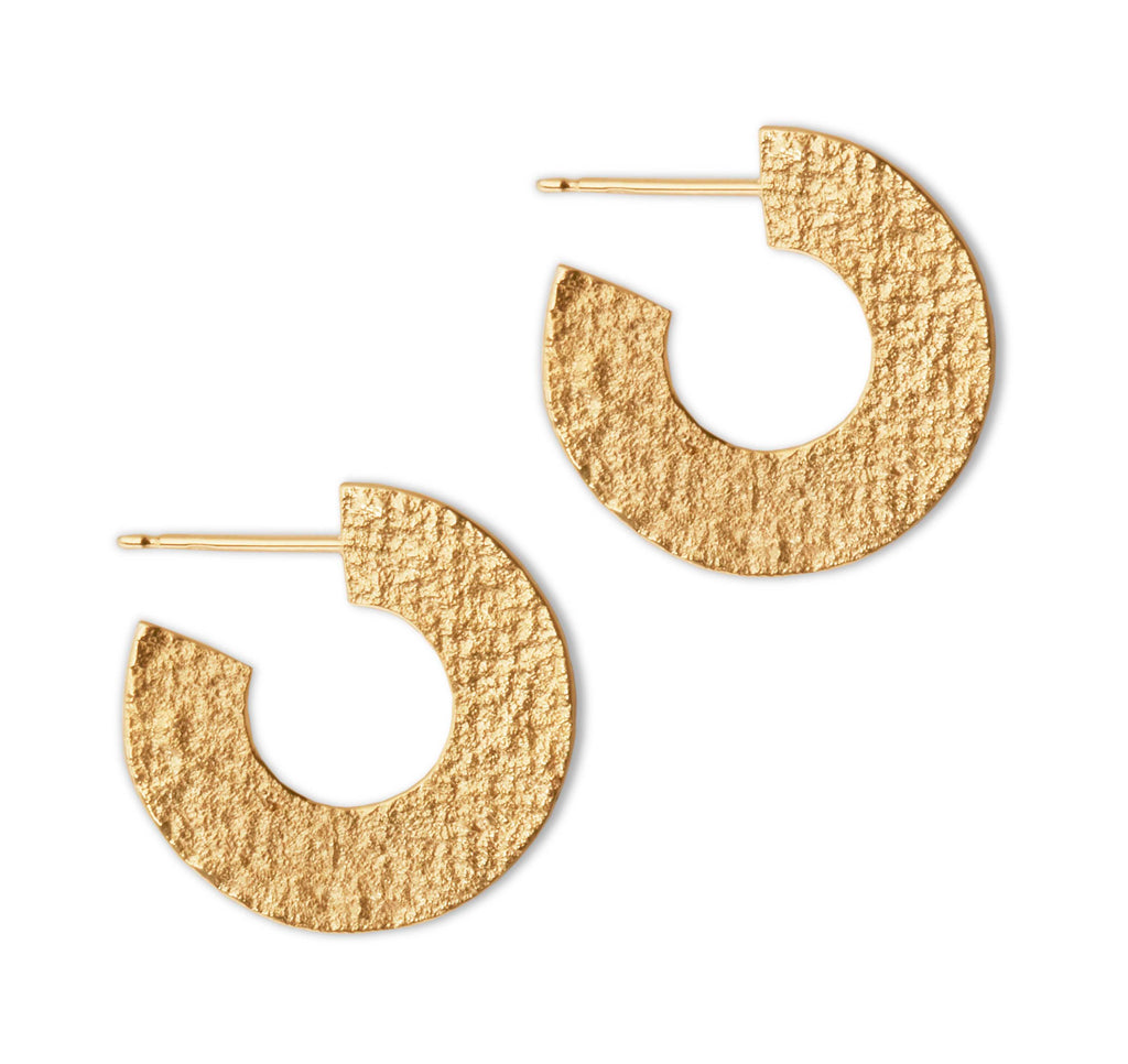 Ionic Hoop Earrings in Gold Plate