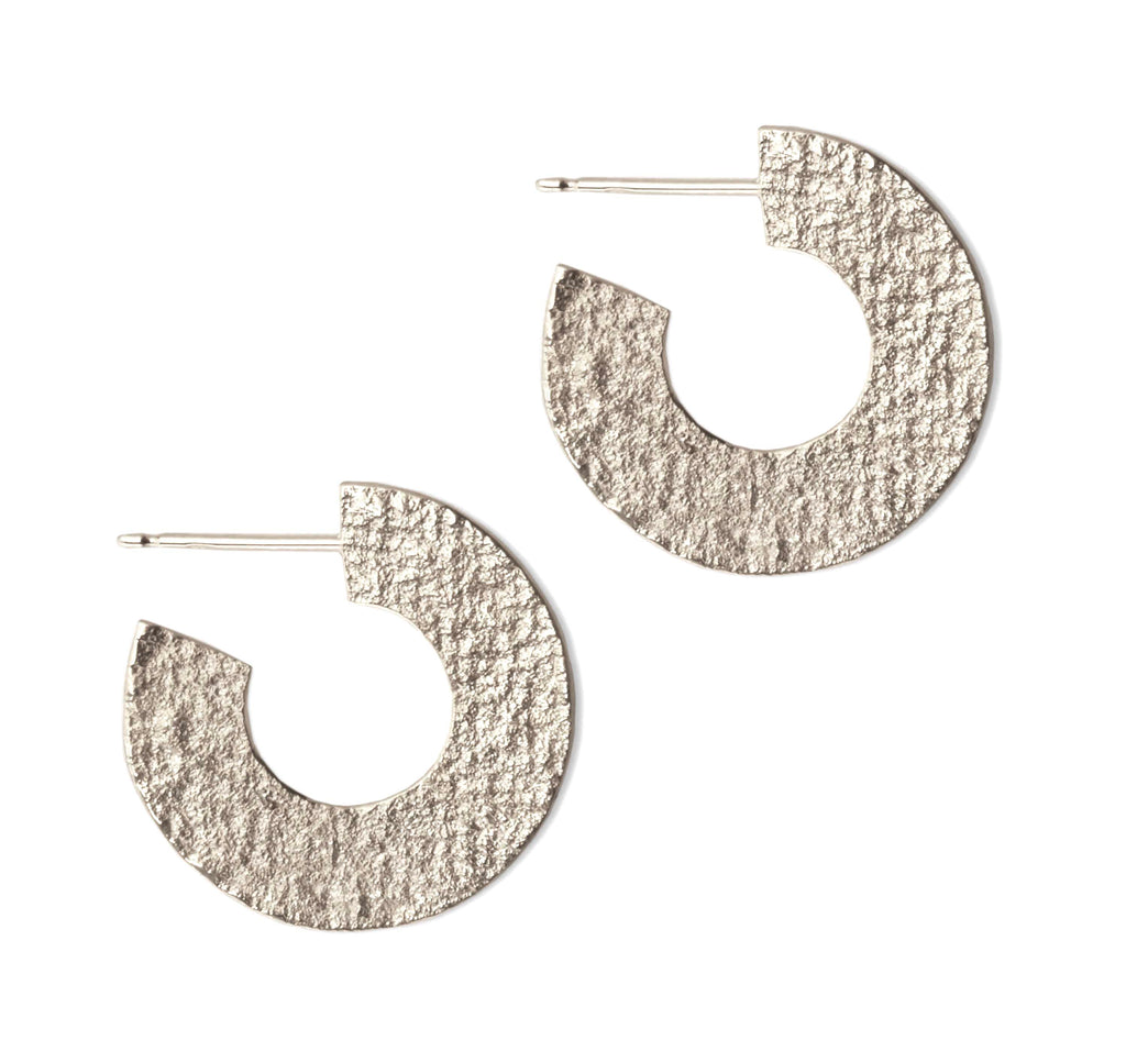 Ionic Hoop Earrings in Silver