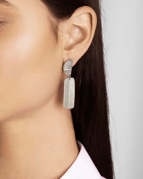Silver Articulated Earrings