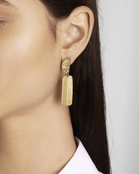 Gold Articulated Earrings