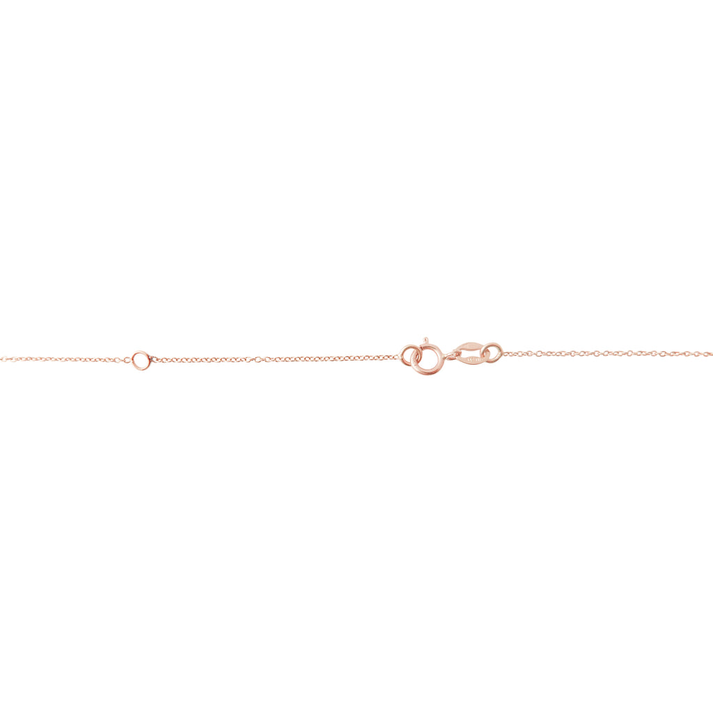 Cognac Diamond Drop Bracelet in Rose Gold