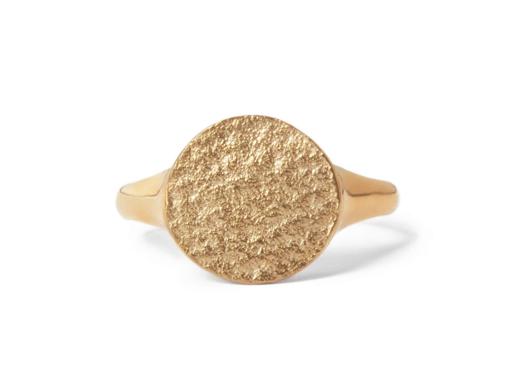 Paper Signet Ring in 9k Yellow Gold