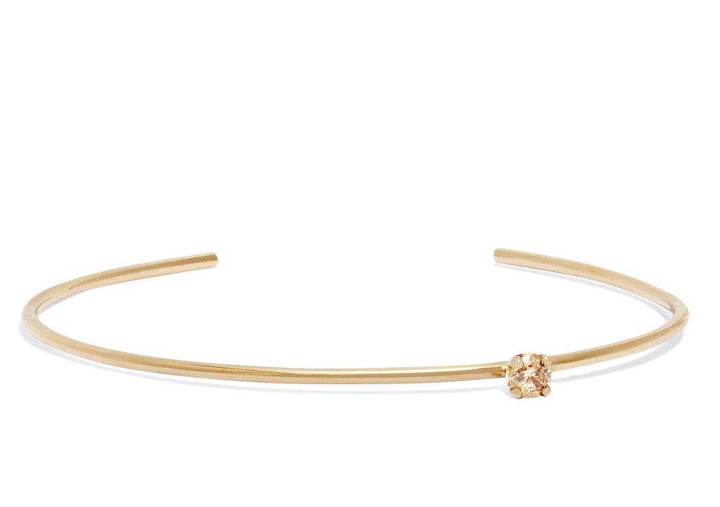 Champagne Diamond Cuff in 18k Gold