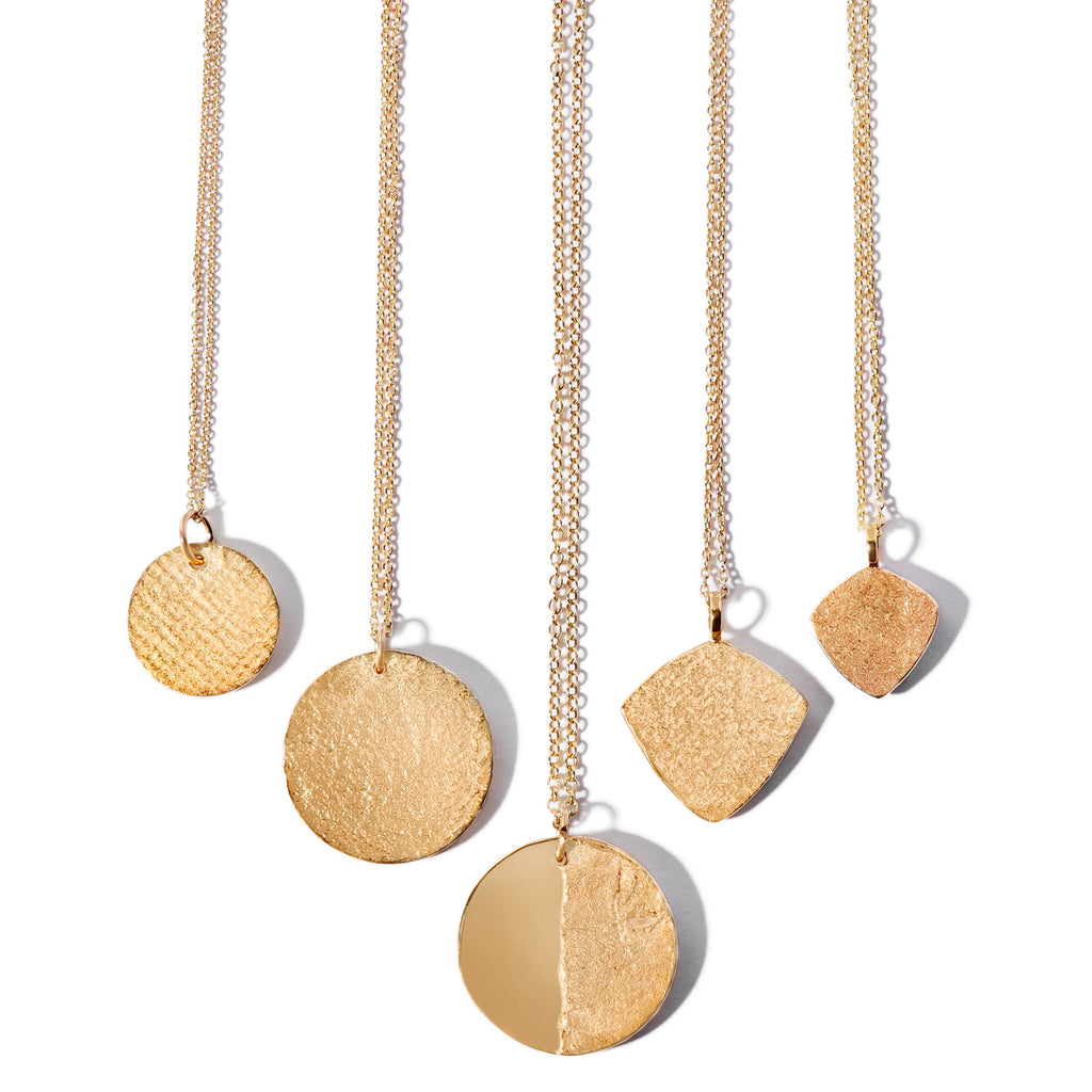 Split Disc Necklace