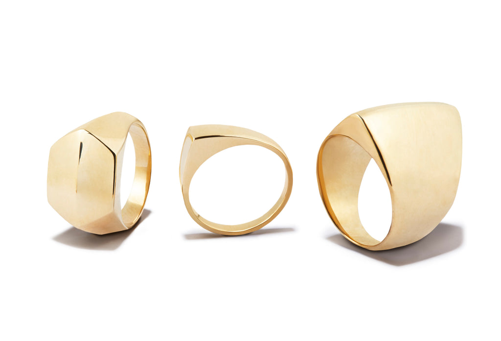 Axial Ring in Gold