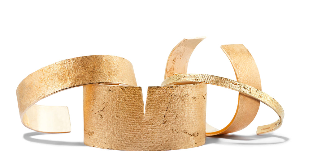 Split Paper Cuff in Bronze