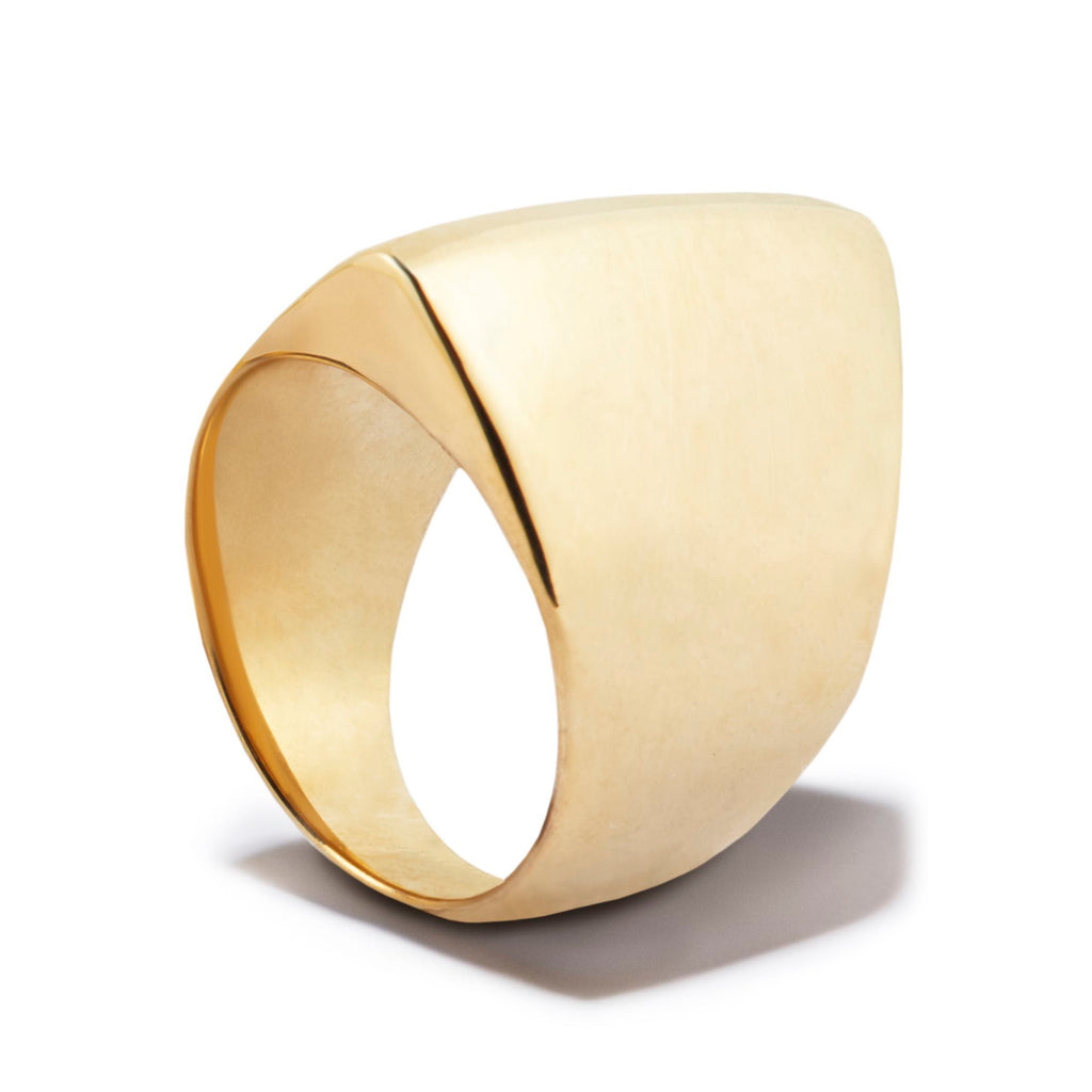 Ridge Ring in 18-Carat Gold