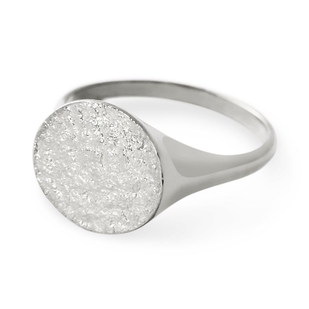 Paper Signet Ring in Silver