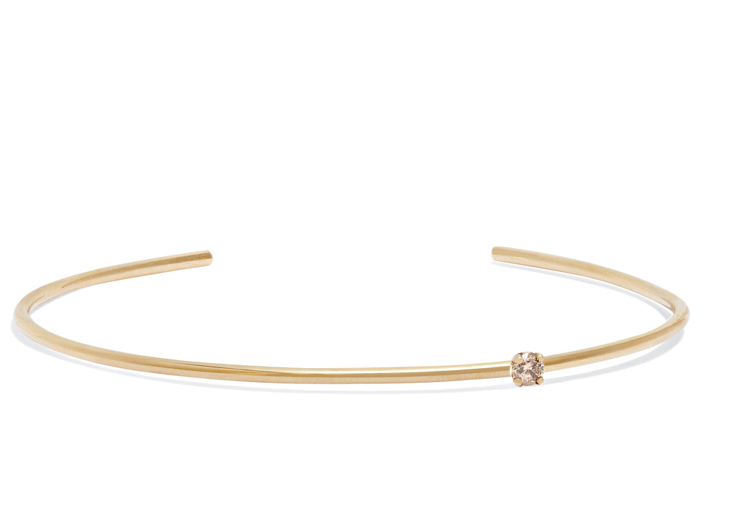 Petite Champagne Diamond Cuff in 18k Gold
